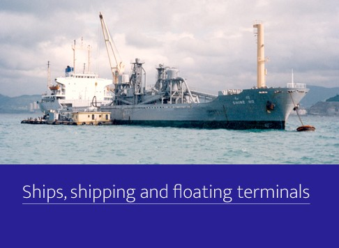 Ships, shipping and floating terminals