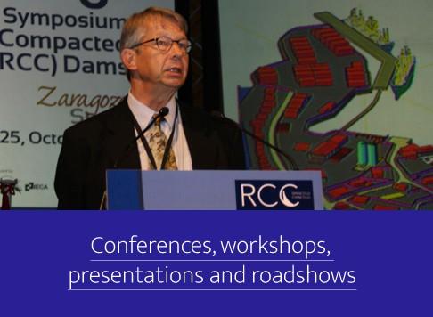 Conferences, workshops, presentations and roadshows